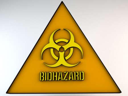 riesgo biologico: Biohazard signo ilustraci�n 3D