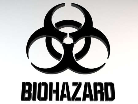 poison sign: Biohazard Sign 3D Illustration