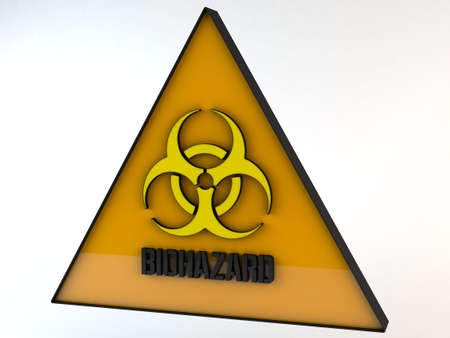 poison symbol: Biohazard Sign 3D Illustration