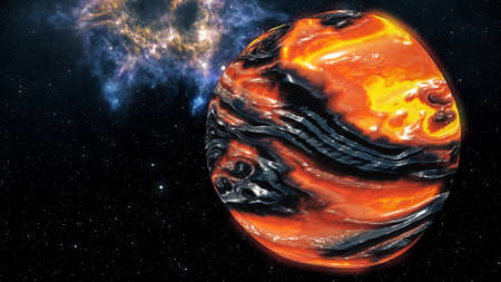 Genesis Birth of a Planet Concept 3D Illustration Stock Photo