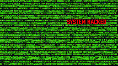 Computer System Hacked Terminal Concept Stock Photo