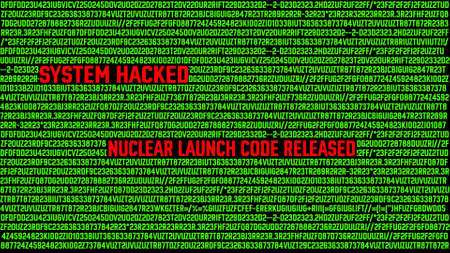 Hacking Nuclear Launch Code Password Concept Stock Photo