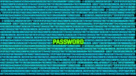 Hacking Password Concept