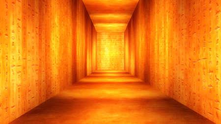エジプトのトンネル象形文字コリドー図 写真素材