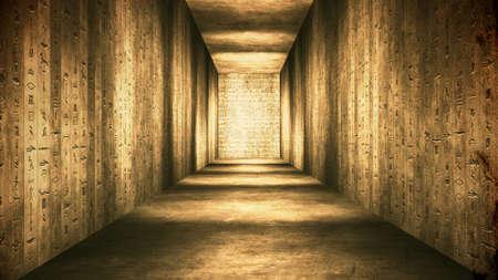 エジプトのトンネル象形文字コリドーヴィンテージイラスト