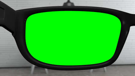 Glasses with Greenscreen