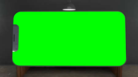 Phone with Greenscreen