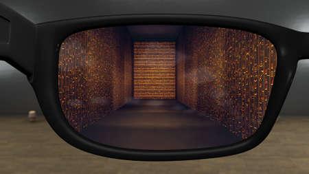 Multi Dimension AR Glasses Egyptian Concept Art Foto de archivo - 117209812