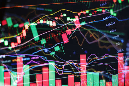 Complex Deep Stock Charts Technical Analysis Concept