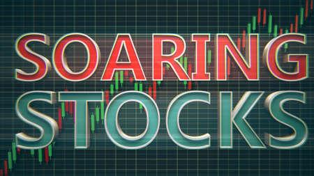 Soaring Stocks Finance Money Concept 3D Illustration