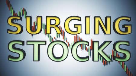 Surging Stocks Reccession Crisis Market Panic Concept 3D Illustration