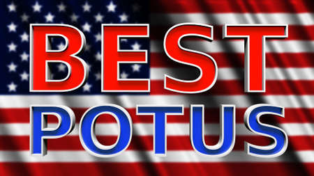 Best Potus USA President 3D Illustration