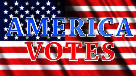 America Votes USA 3D Illustration