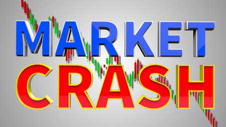 Stock Market Crash 3D Illustration
