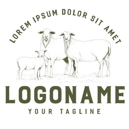 Rustic goat logo