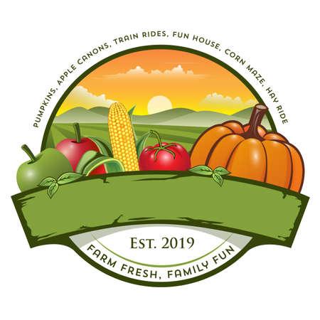 Farm icon design Illusztráció