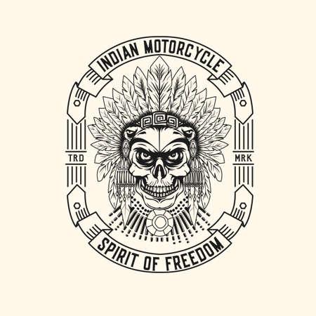 Indian Motorcycle icon Design Illustration