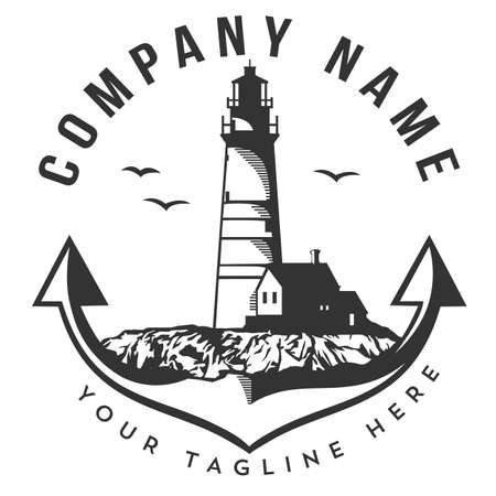 Lighthouse Beach logo design