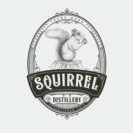 Squirrel Distillery icon Design
