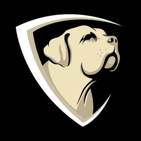Dog Shield icon design