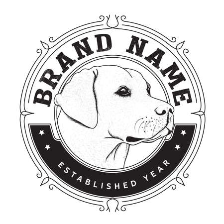 Dog Brand logo design Illustration