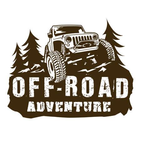 car Adventure off road logo vector