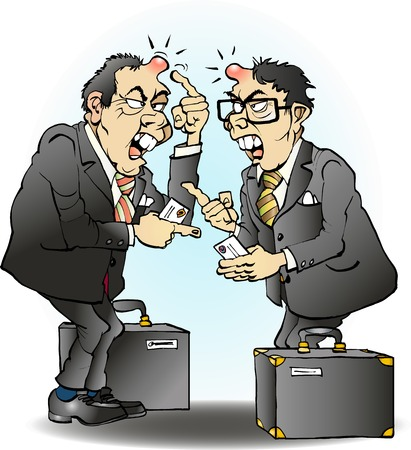 Business going wrong in asia cartoon illustration drawing Stock fotó - 54787546