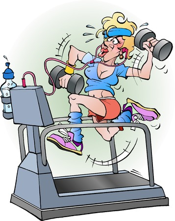 female fitness cartoon image