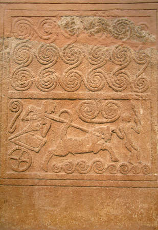 Ancient stone carving - excellent background
