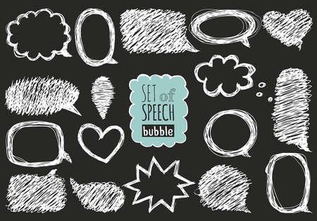 messages: Doodle design with short messages.