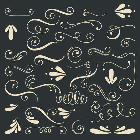 scroll: Romantic design element for wedding cards, in invitations and save the date cards.