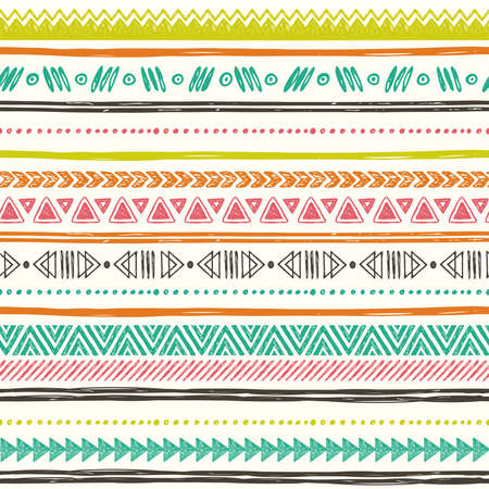 Geometric borders. Hand drawn abstract backdrop. Wallpaper for pattern fills, web page Illustration