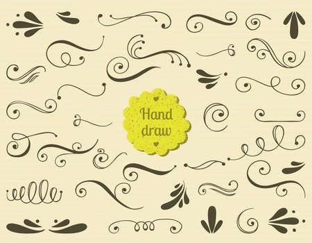 Romantique élément de design pour les cartes de mariage, dans les invitations et enregistrer les cartes de date.