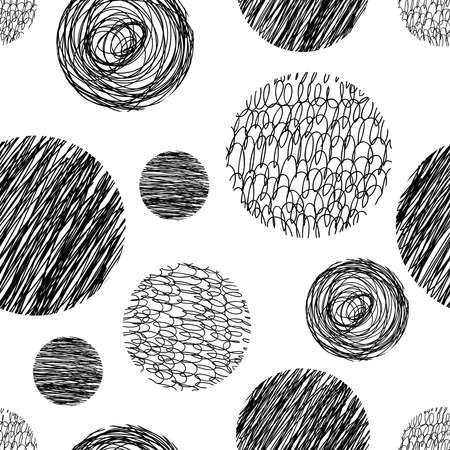 forme geometrique: Vecteur abstraite tirée par la main fond pour la conception et la décoration textile, couvertures, emballage, papier d'emballage. Illustration