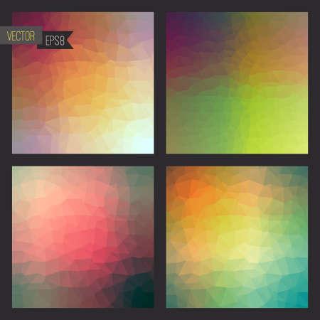 effect: Flow of spectrum effect. Vector polygonal background.