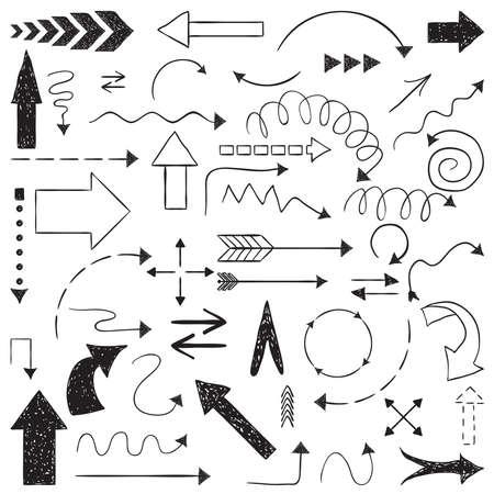 sketched arrows: Hand drawn arrows sketched style.