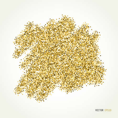 jewelle: Gold sparkle vector template for your text. Template for your design, invitation, logos, card, gift, voucher, certificate Illustration