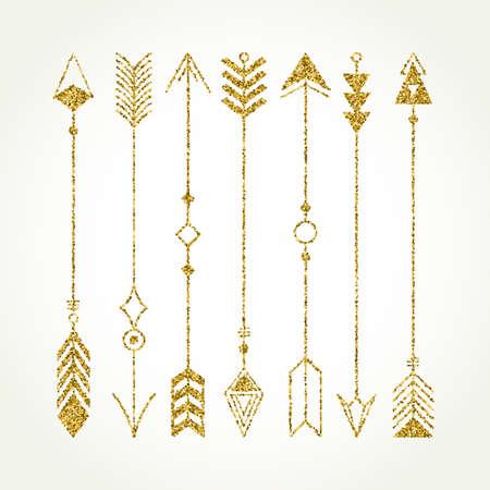 Collection ethnique avec des flèches. Navajo éléments pour la conception. Vector set avec des éléments tribal, indien, aztèque, hippie, boho. Banque d'images - 55407849