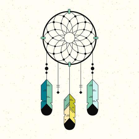 Native American Indian Symbol. Geometric flat style. Ilustração