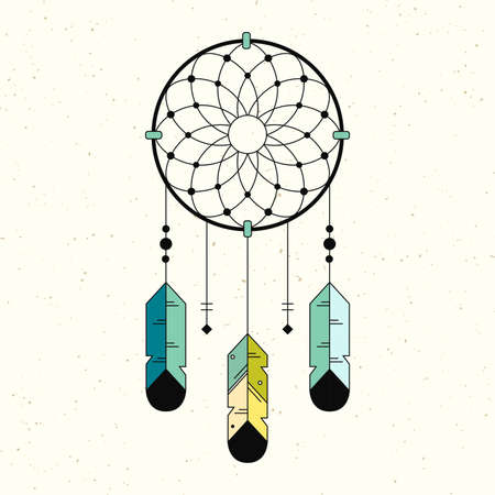 guarded: Native American Indian Symbol. Geometric flat style. Illustration
