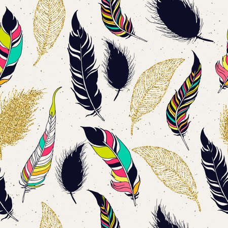 Hand getrokken achtergrond voor ontwerp en decoratie textiel, covers, pakket, inpakpapier. Stock Illustratie