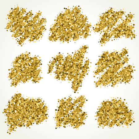 jewelle: Gold sparkle vector template for your text. Template for your design.