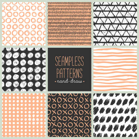 stripes seamless: Hand drawn texture, pattern and geometric elements. Modern abstract design poster, cover, card design.