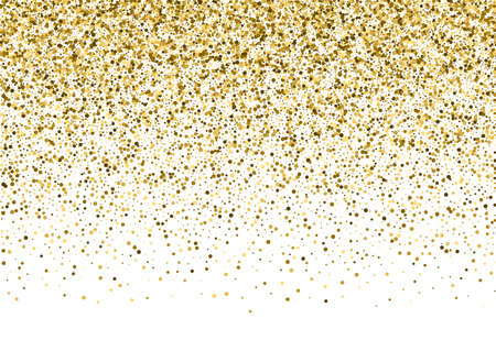 jewelle: Gold sparkle template for your text. Explosion of confetti circles. Template for your design.