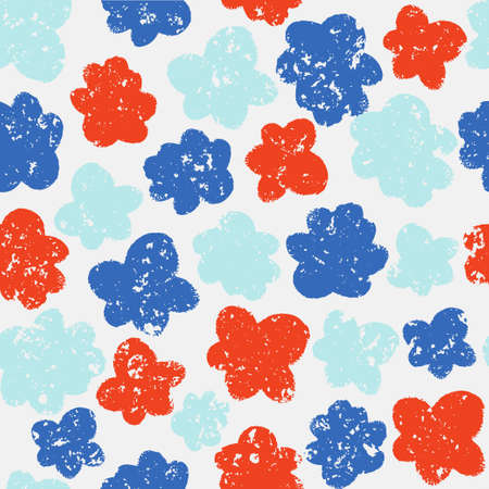 Hand drawn flower background for design and decoration textile, fabric, gift wrap, wall art design. Banque d'images - 110524467