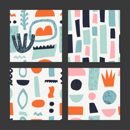 Creative vector illustration for backdrop, textile print, flooring. Isolated. Vector Illustration.