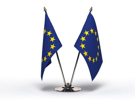 Miniature Flag of European Community (Isolated)