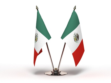 Miniature Flag of Mexico (Isolated) Stock Photo