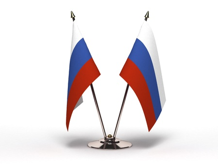 Miniature Flag of Russia (Isolated)