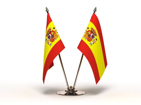 Miniature Flag of Spain (Isolated)